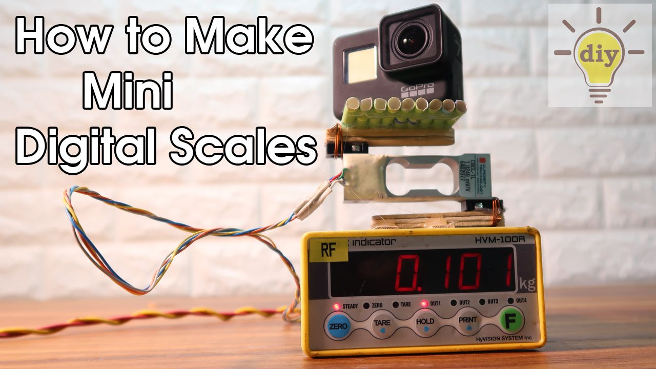DIY 2019: How to make mini digital scales at home