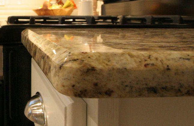Granite Countertop Edge Choices : ... granite island granite granite marble beveled edge granite edge