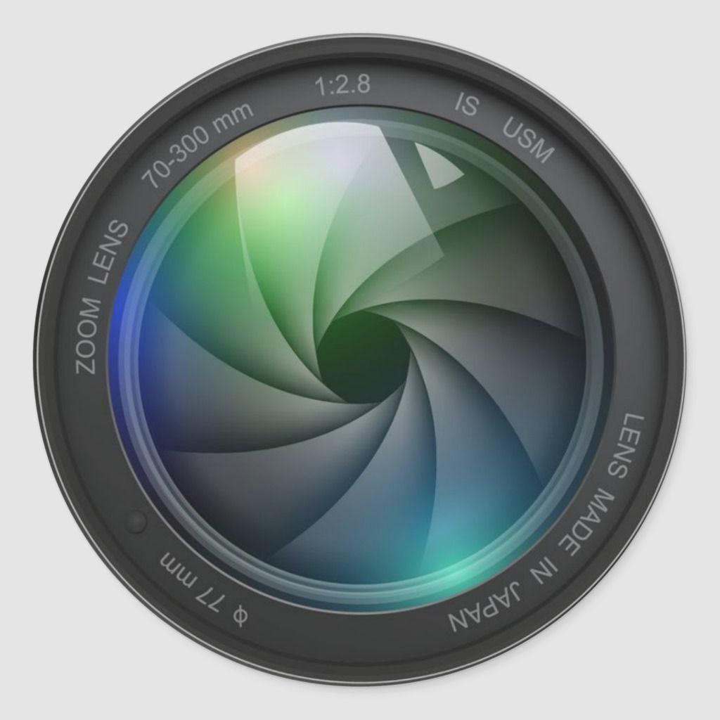 Camera Zoom Lens Design Classic Round Sticker