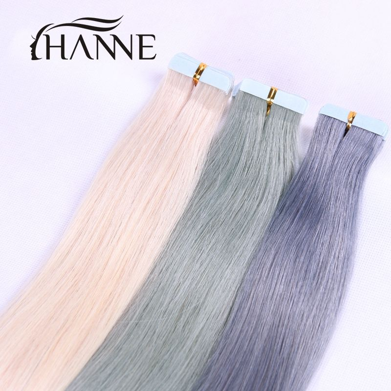 7a Tape Hair Indian Remy Tape Hair Extensions 20pcs 20 Inch Or 24