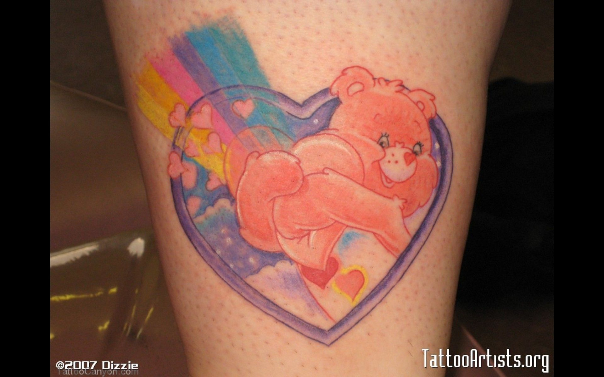 Care Bear Tattoo Artistsorg Picture 739 Care Bear Tattoos Bear Tattoo Designs Bear Tattoos