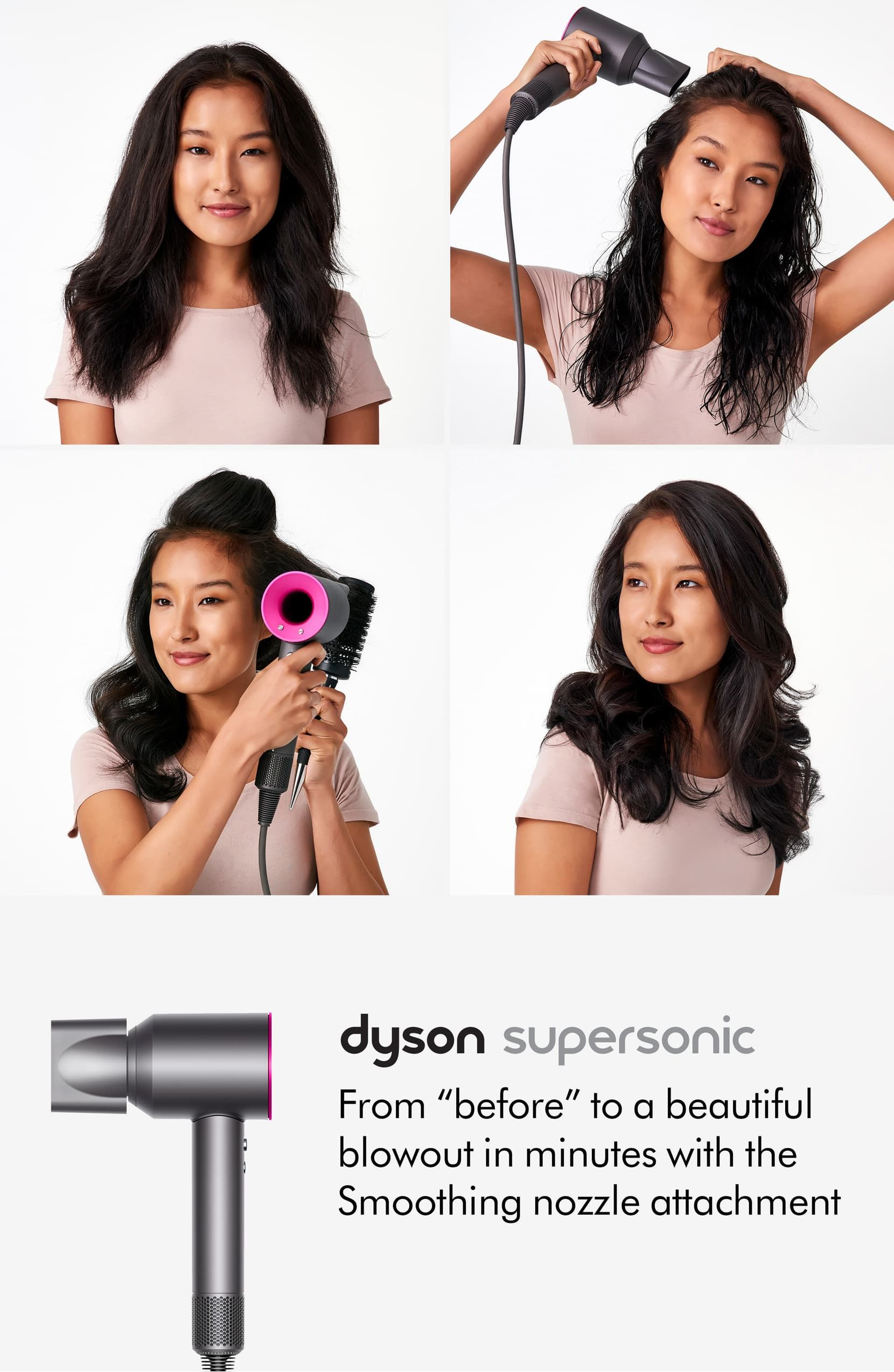 Supersonic Hair Dryer Dyson In 2020 Damp Hair Styles Hair Styles Natural Hair Styles