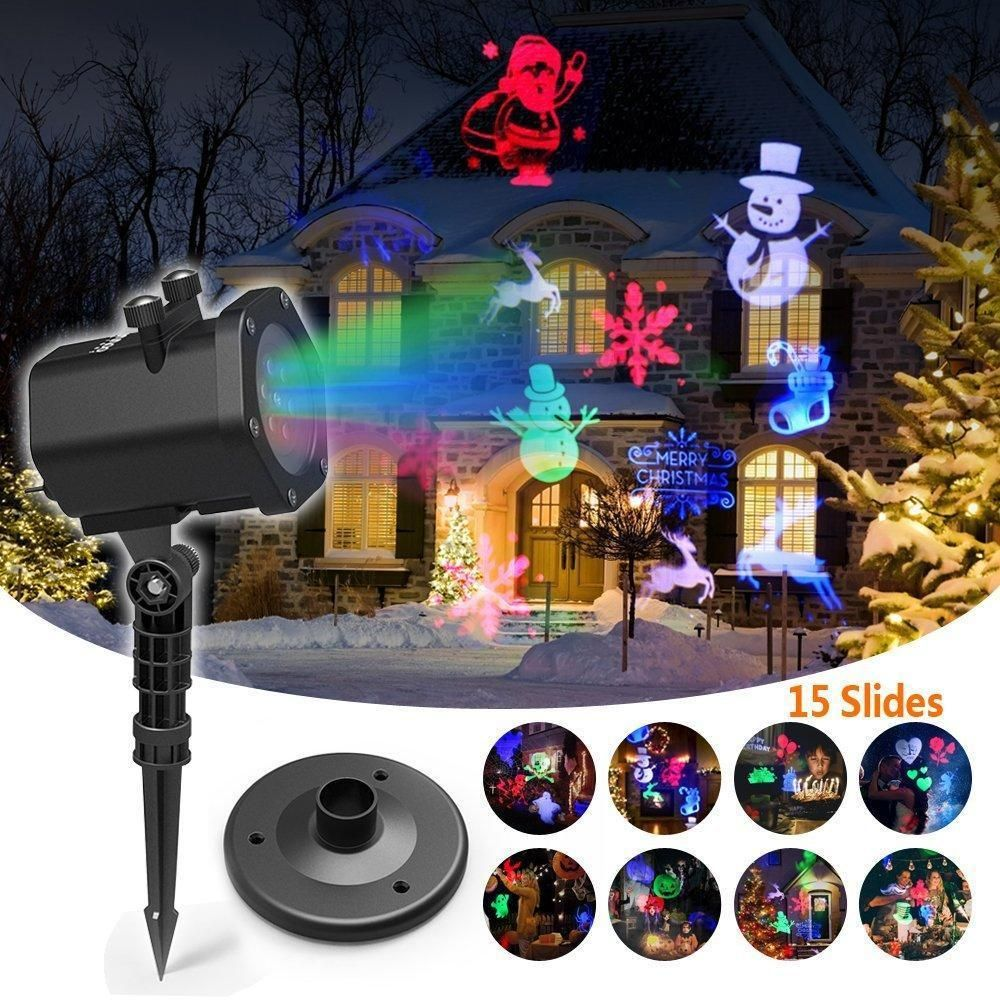 christmas led projector lights holiday light for yard decoration xmas decor innootech - Christmas Led Projector