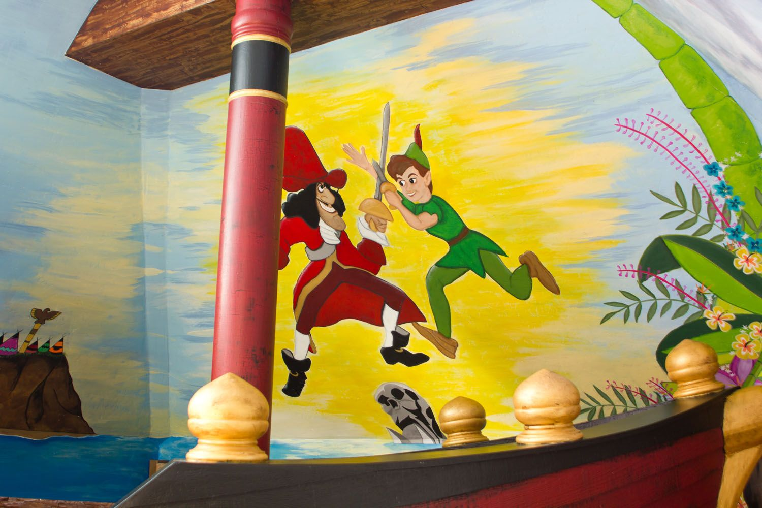 Wall Murals Peter Pan and Captain Hook | For the Boys! | Pinterest ...