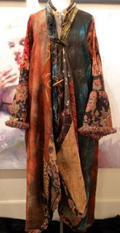 hand dyed coat
