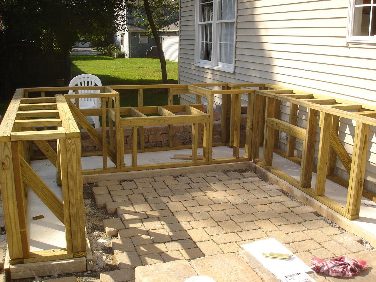 DIY Bar Top Design Ideas | ... match existing patio ...