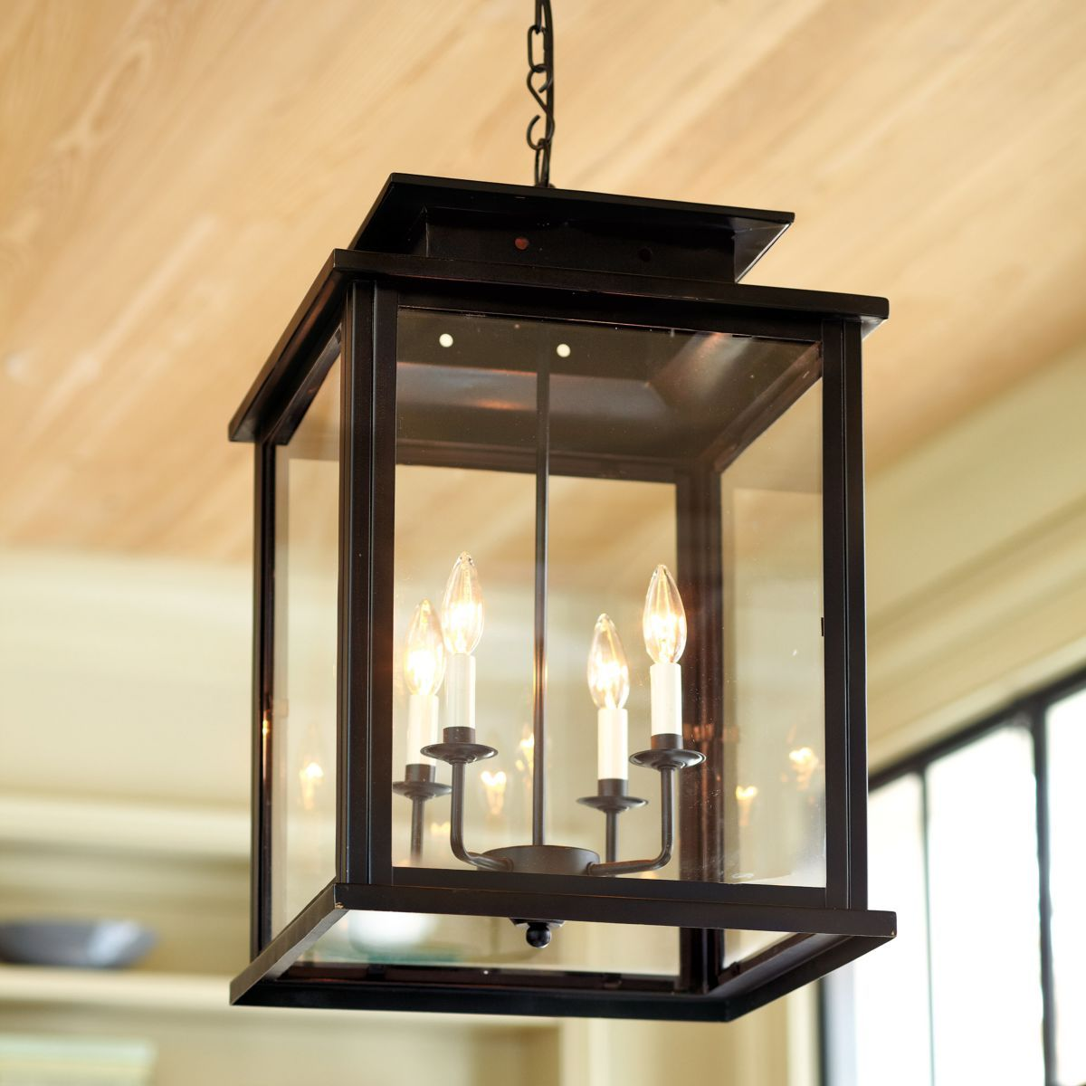Outdoor Entryway Lighting Ideas: Calisse 4-Light Lantern