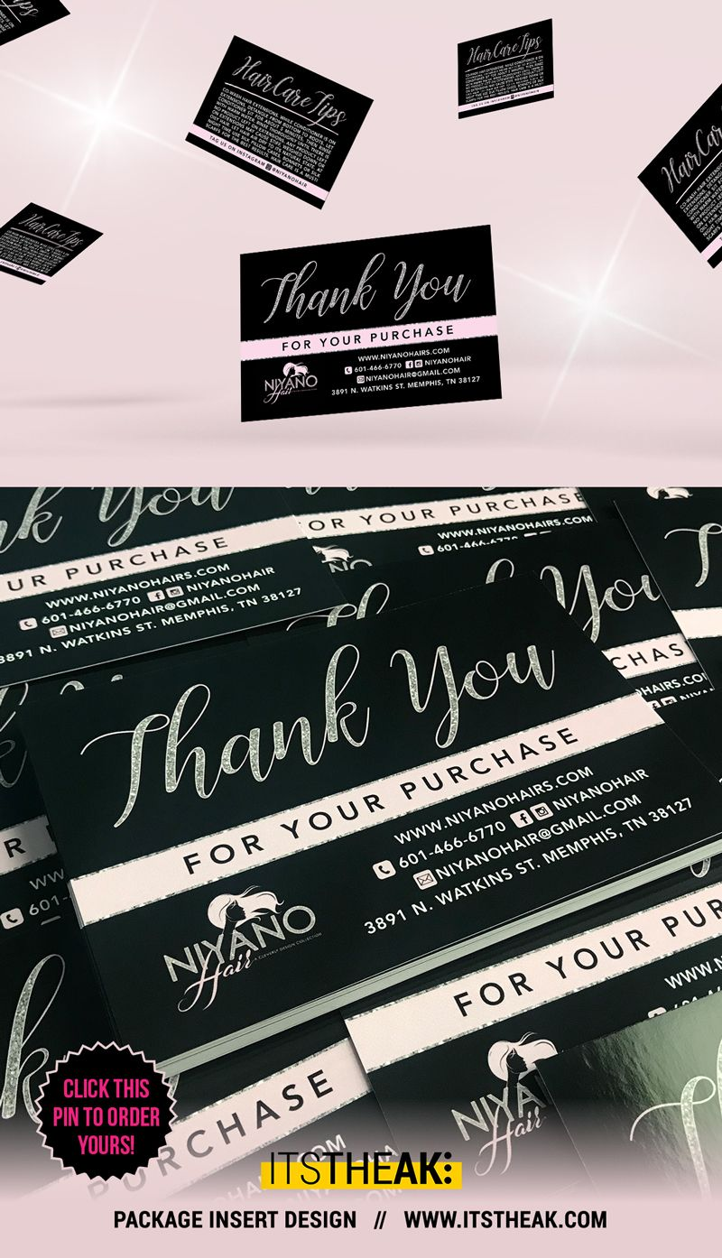Printed Thank You For Your Purchase Thank You Cards Package