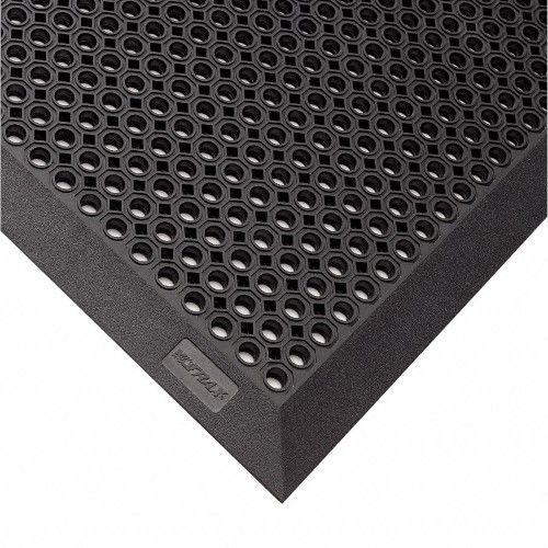 Notrax Outdoor Entrance Mat 6 Ft L 4 Ft W 1 2 Thick Rectangle Black Entrance Outdoor Rubber Mat