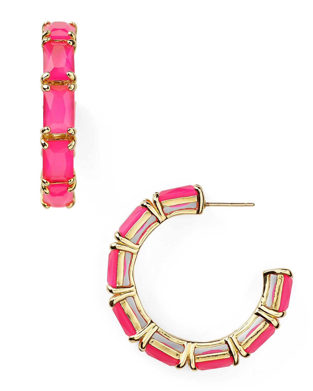 Kate Spade New York Treasure Chest Hoops
