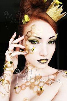 Bumble Bee Makeup Ideas >> http://cutemakeupideass.com/makeup-ideas/bumble-bee-makeup-ideas/