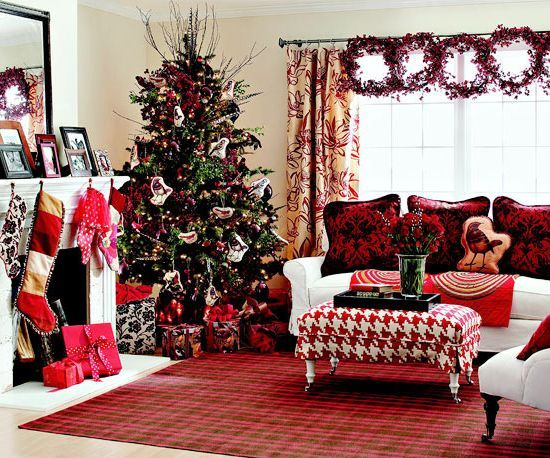 christmas decorations ideas for living room. Decoration  Living Room Big Chairs Christmas