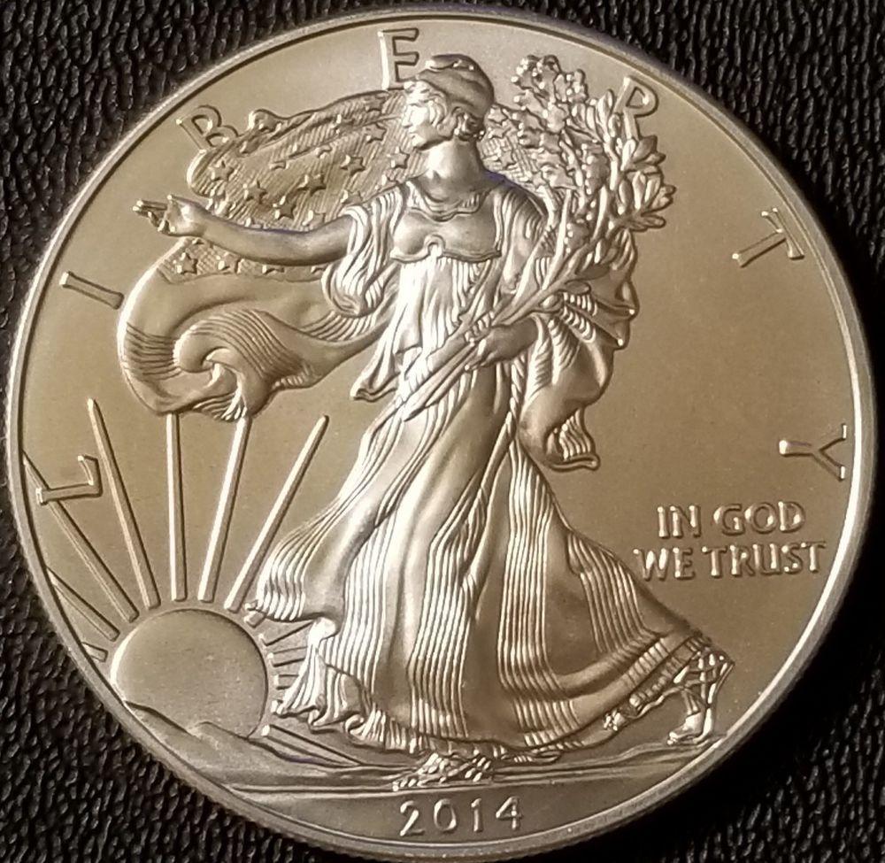 2014 Silver American Eagle 1 Oz Coin 999 Fine Silver Bullion Silver Bullion Gold Bullion Coins Silver Bullion Coins