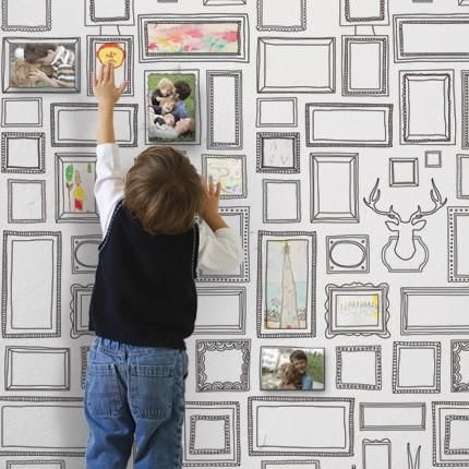 Frames Wallpaper Peel And Stick Simple Shapes Framed Wallpaper Fabric Wallpaper Removable Wallpaper