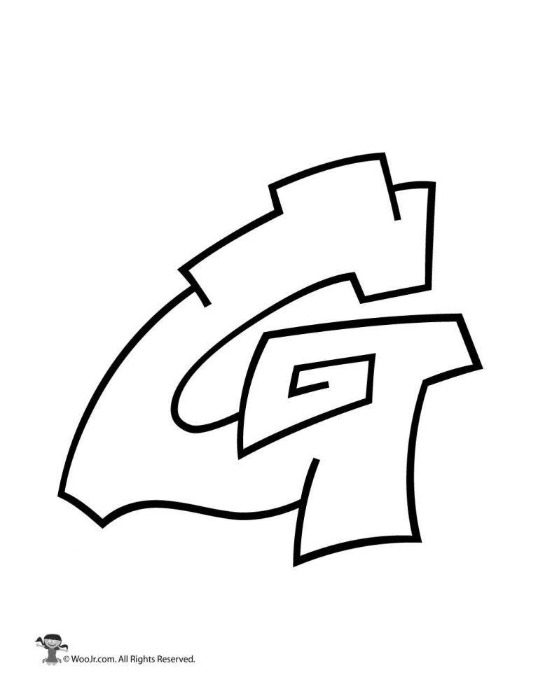 Graffiti Capital Letter G Woo Jr Kids Activities Graffiti Art Letters Lettering Alphabet Graffiti Alphabet