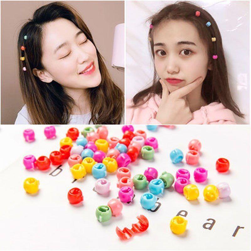 20pcs Hair Pins For Kids Colored Small Sugar Beans Grab Clip Round Braided Hair Clip Side Clip Baby Girl Gifts Small Hair Clips Coloring For Kids Hair Clips