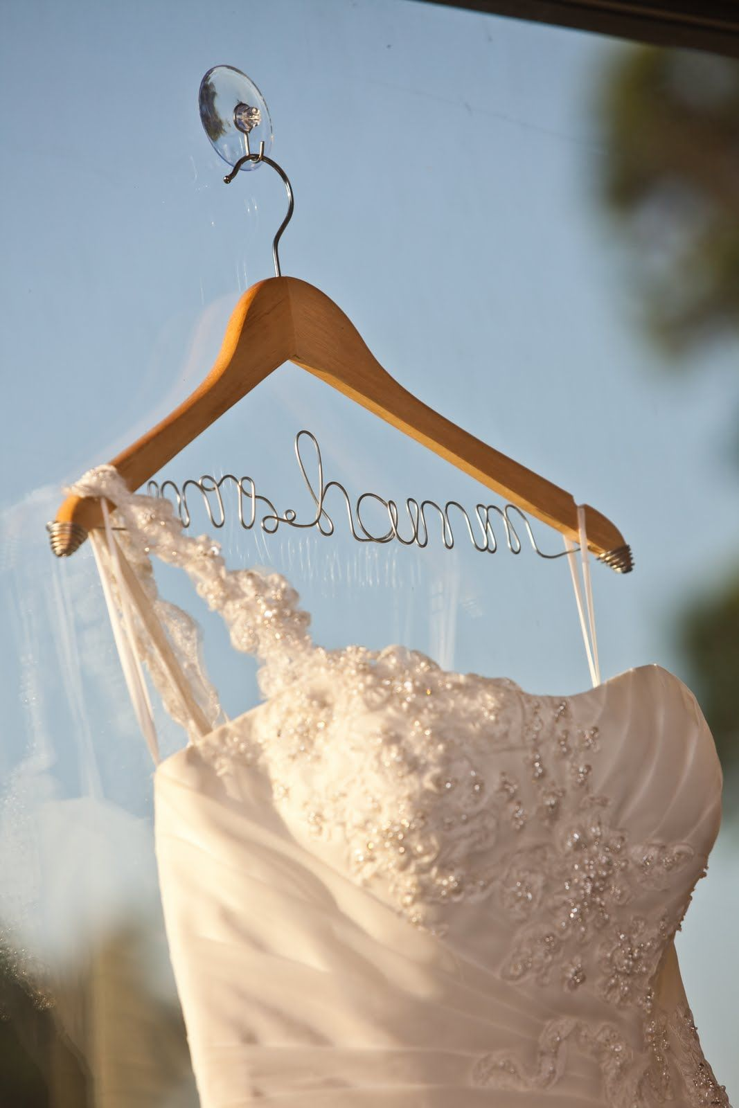 Great gift for the bride...wedding dress hanger from etsy.com ...