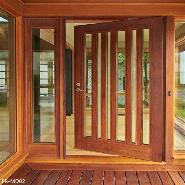 Outside Swing Solid Wooden Glass Door Front Entry Door Pinterest
