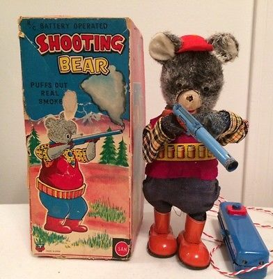 Marusan Shooting Bear  Remote Control Toy from 50s  ebay