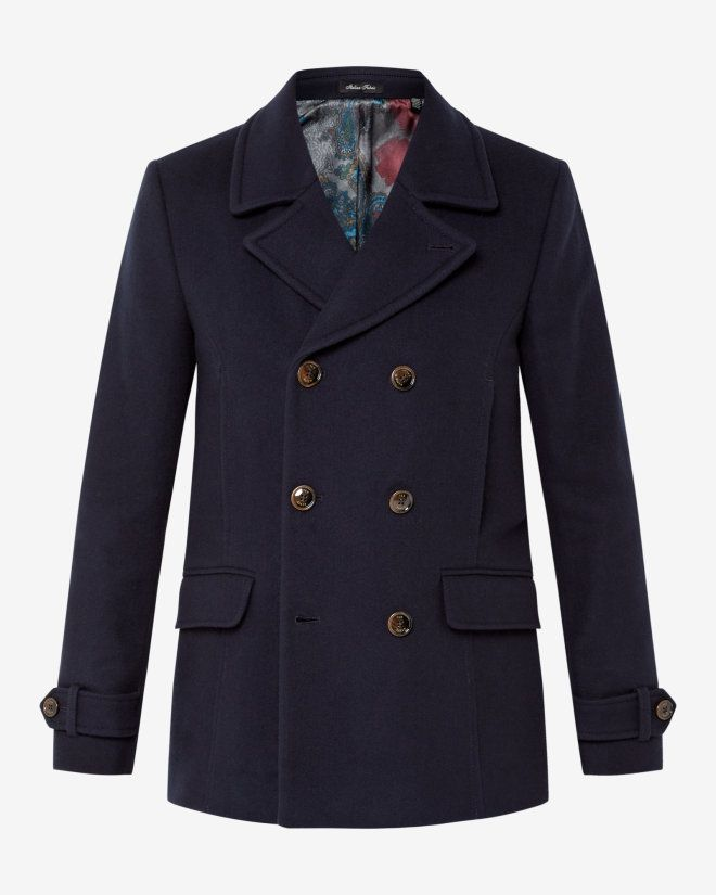 Jackets Coats Designer Clothes, Ted Baker Ossain Herringbone Peacoat