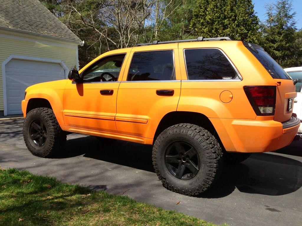 Beautiful Plasti Dipped Orange Grand Cherokee Jeep Wk Jeep Grand Cherokee Zj Jeep Xj