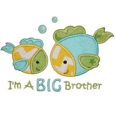 SAMPLE SALE: Fish Sibling Gift Shirt, Big Brother or Sister, Pregnancy Announcement, Baby, Toddler, Bodysuit, T-Shirt