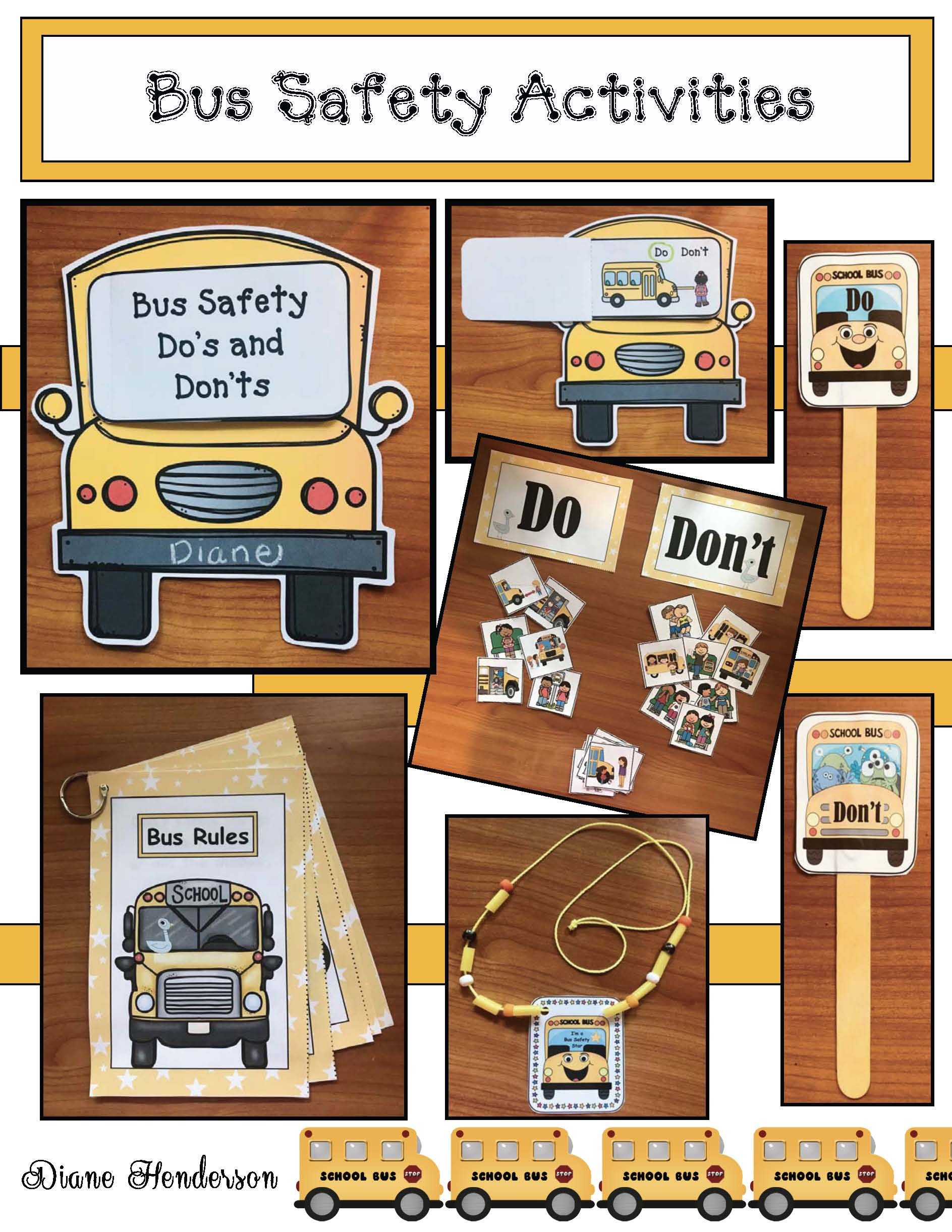 Bus Safety Activities Bus safety, School bus safety, Bus