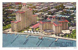 Aeroplane View Of The Edgewater Beach Hotel Image Courtesy Crcc Collection Edgewater Beach Edgewater Chicago Beach Hotels