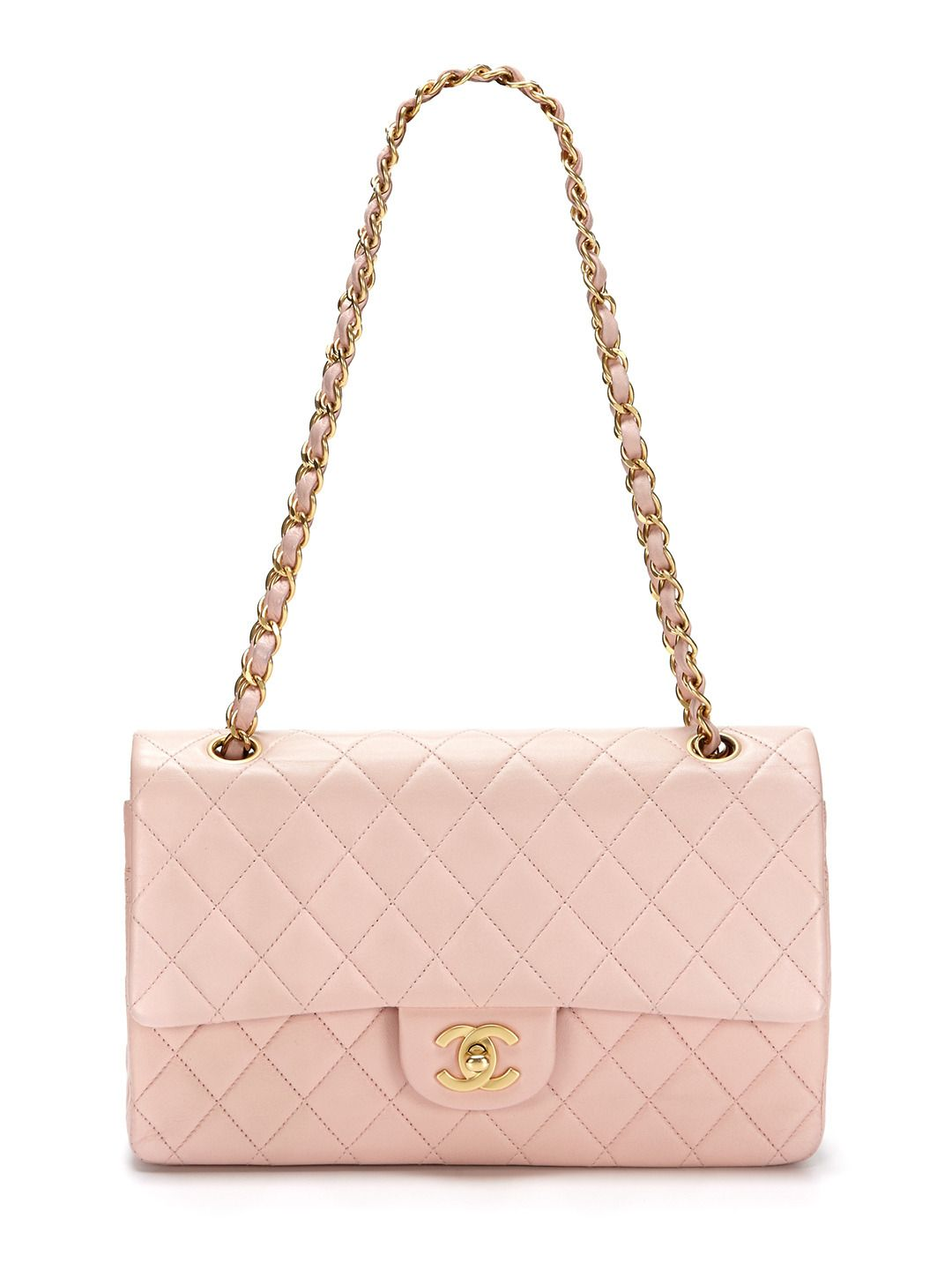 2c3afc263223 Pink/Peach Quilted Lambskin Leather Large 2.55 Double Flap Bag by Chanel