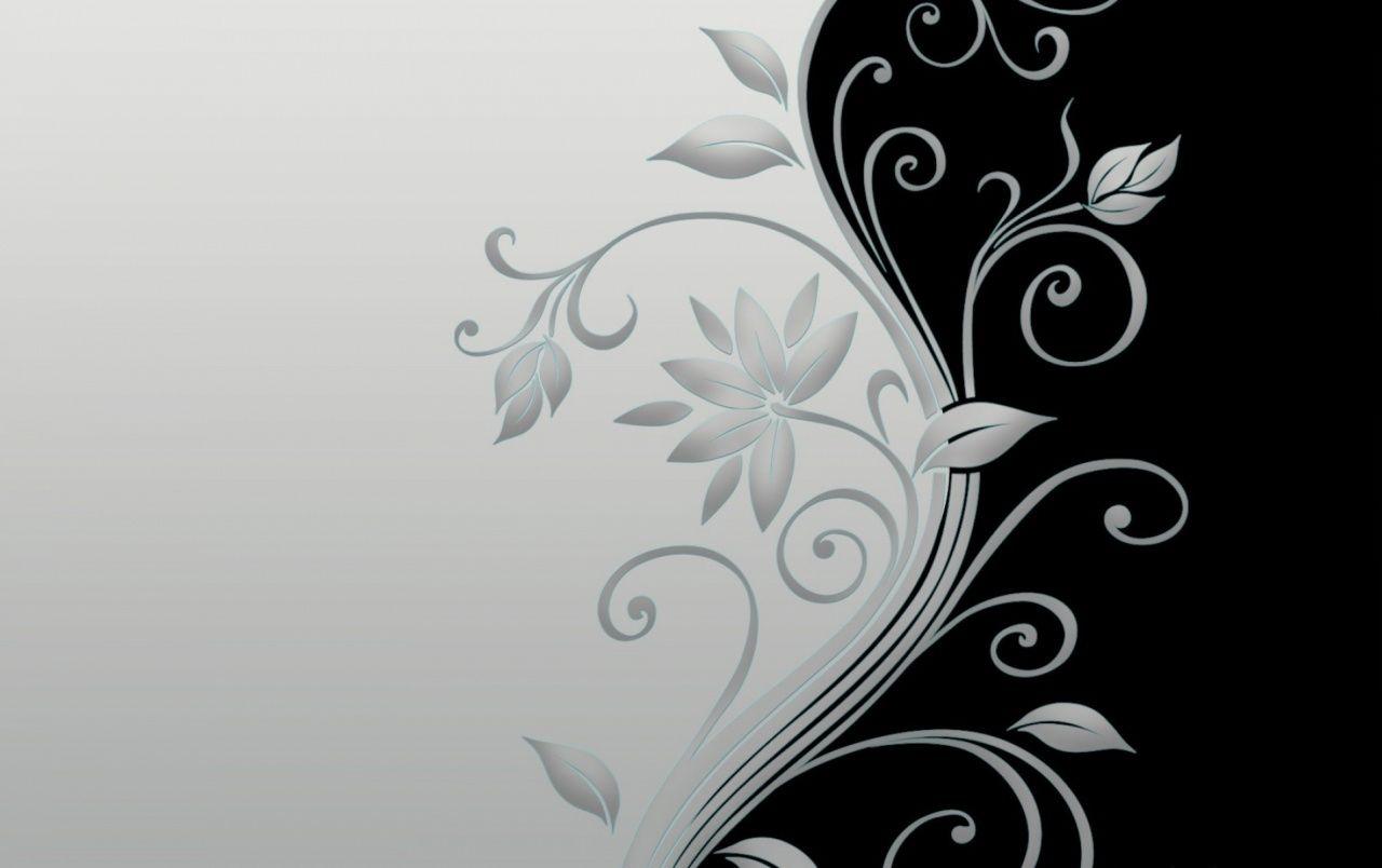 Flor Tallo Blanco Y Negro Wallpapers