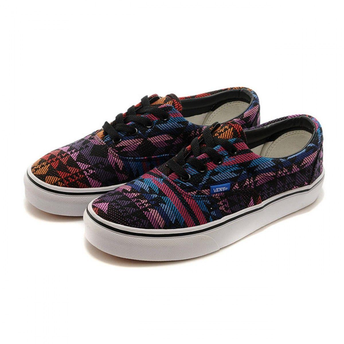 6854c1bf08cd Vans Shoes Black Purple Winter Knit National Ethnic Era Shoes Unisex  Classic Canvas