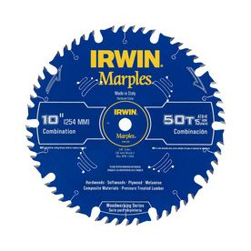 Irwin Marples 10 In 50 Tooth Standard Tooth Carbide Circular Saw Blade Circular Saw Blades Table Saw Blades Table Saw