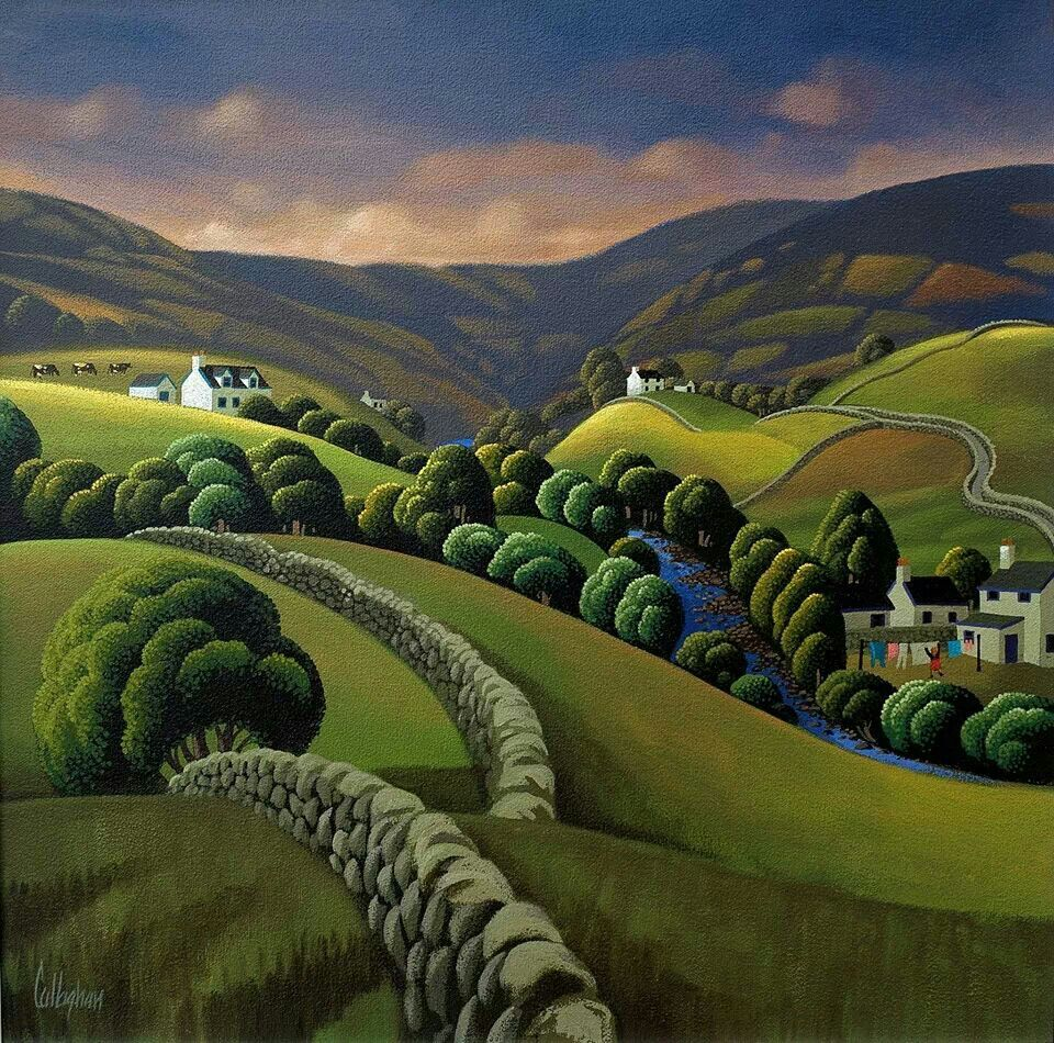 Landscape Illustration Vector Free: George Callaghan, Ireland …