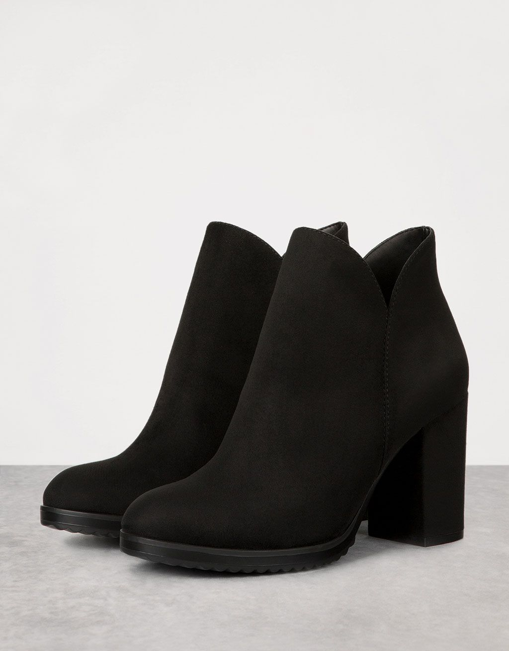 fa6f7a49c5d9 Ankle boots with block mid-heel en 2019 | Shoes | Bershka zapatos ...