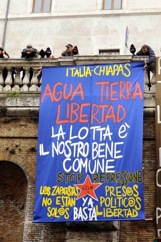 Desde Roma, Italia: solidaridad con los zapatistas: ¡No están solxs! Su lucha es nuestra lucha.