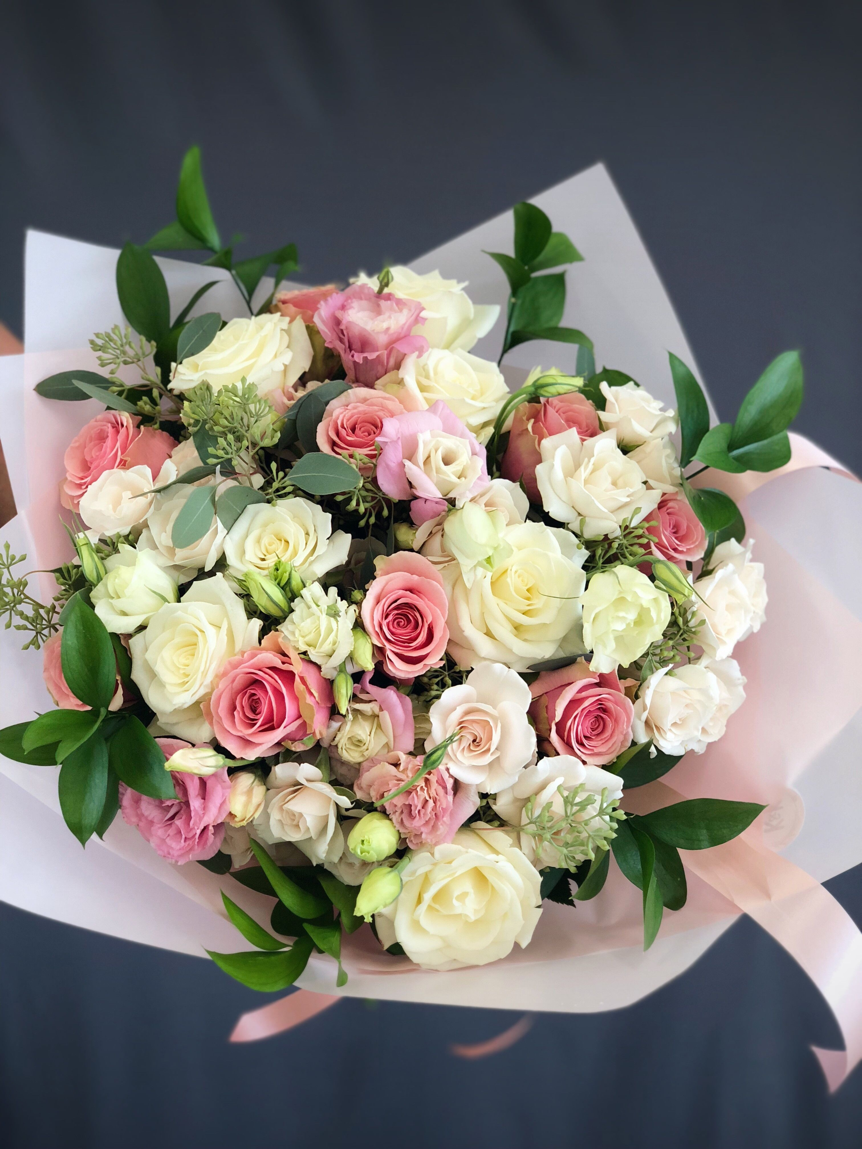 29 Bouquet Pink White Large In Hallandale Beach Fl K K