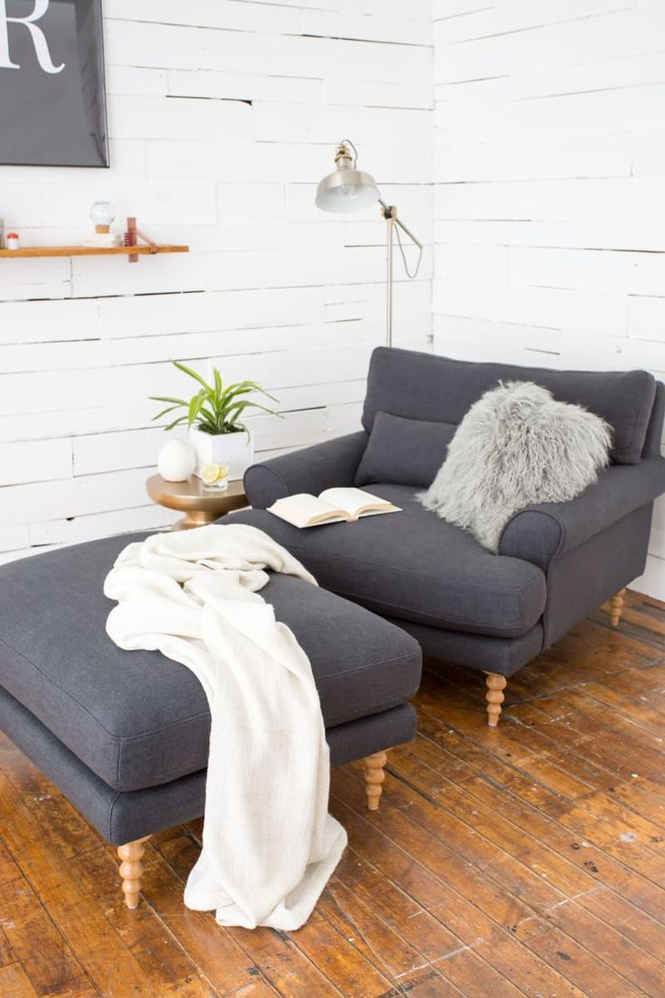 Maxwell Ryan x Interior Define Apartment Sofa & Chair — Apartment Therapy is part of Living Room Chairs Apartment Therapy - Earlier this year, Maxwell debuted his furniture collaboration with Interior Define—and introduced us to his version of the perfect sofa  The collection just got a little bigger (and smaller) the Maxwell is now available as an apartmentsized sofa, chair, and ottoman
