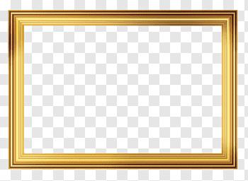 Frame Frame Gold Colored Frame Free Png Frame Mirror Illustration Painting Frames