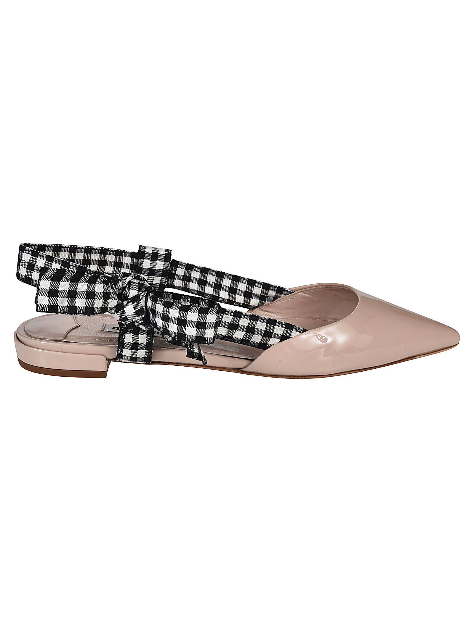 ddf5bc04437 Low Heels · Leather · MIU MIU SLINGBACK CHECKED PUMPS.  miumiu  shoes    Teen Girl Fashion