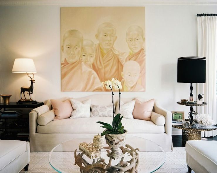 Suzie: Jeneration Interiors   Light Gray U0026 Pink Chic Living Room Design  With Light Gray Nice Ideas
