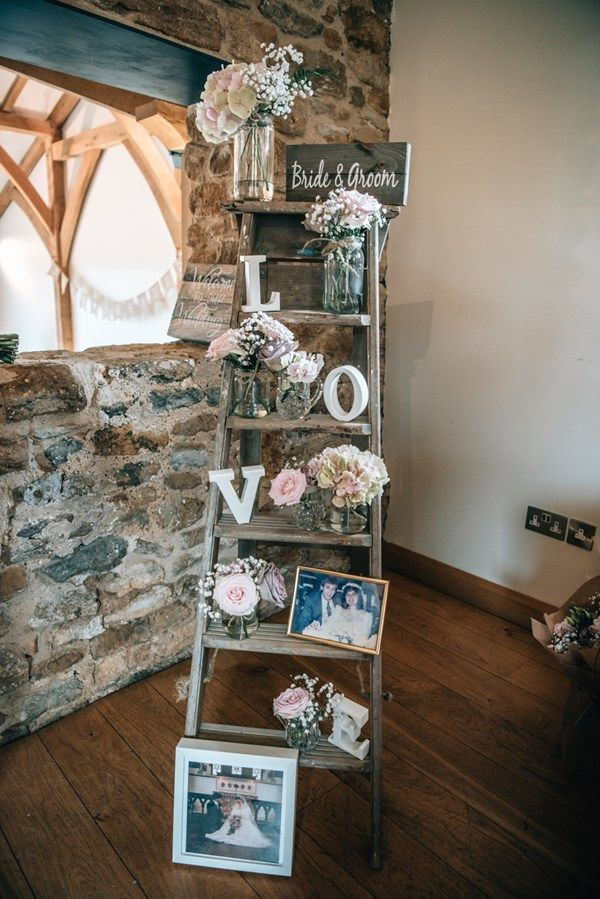 Real wedding: A rustic themed day with a blush pink colour scheme and DIY touches
