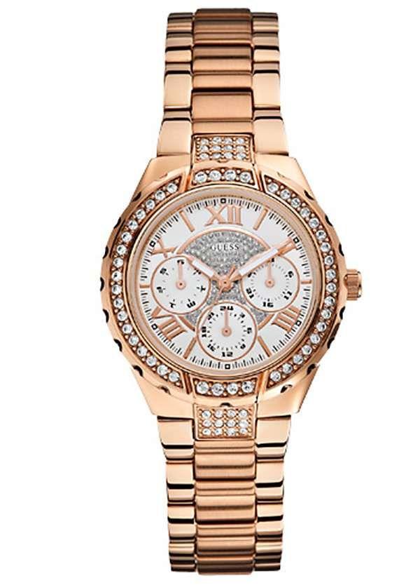 Guess Ladies Viva Rose Gold Plated Bracelet Watch #Freemans #befabulous