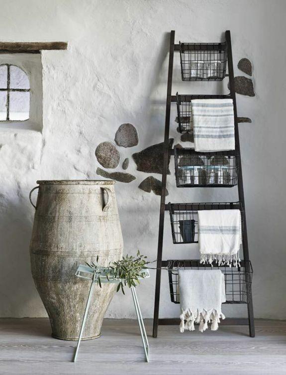 Handtuchleiter Holz 35 Reizende Badezimmer Im Landhausstil Handtuchleiter Dekor Haus Zubehor