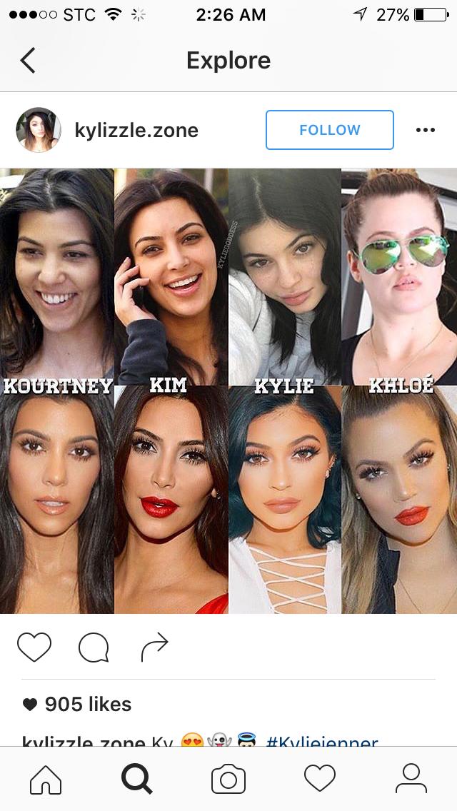 All 'glowed' up Kardashian girls
