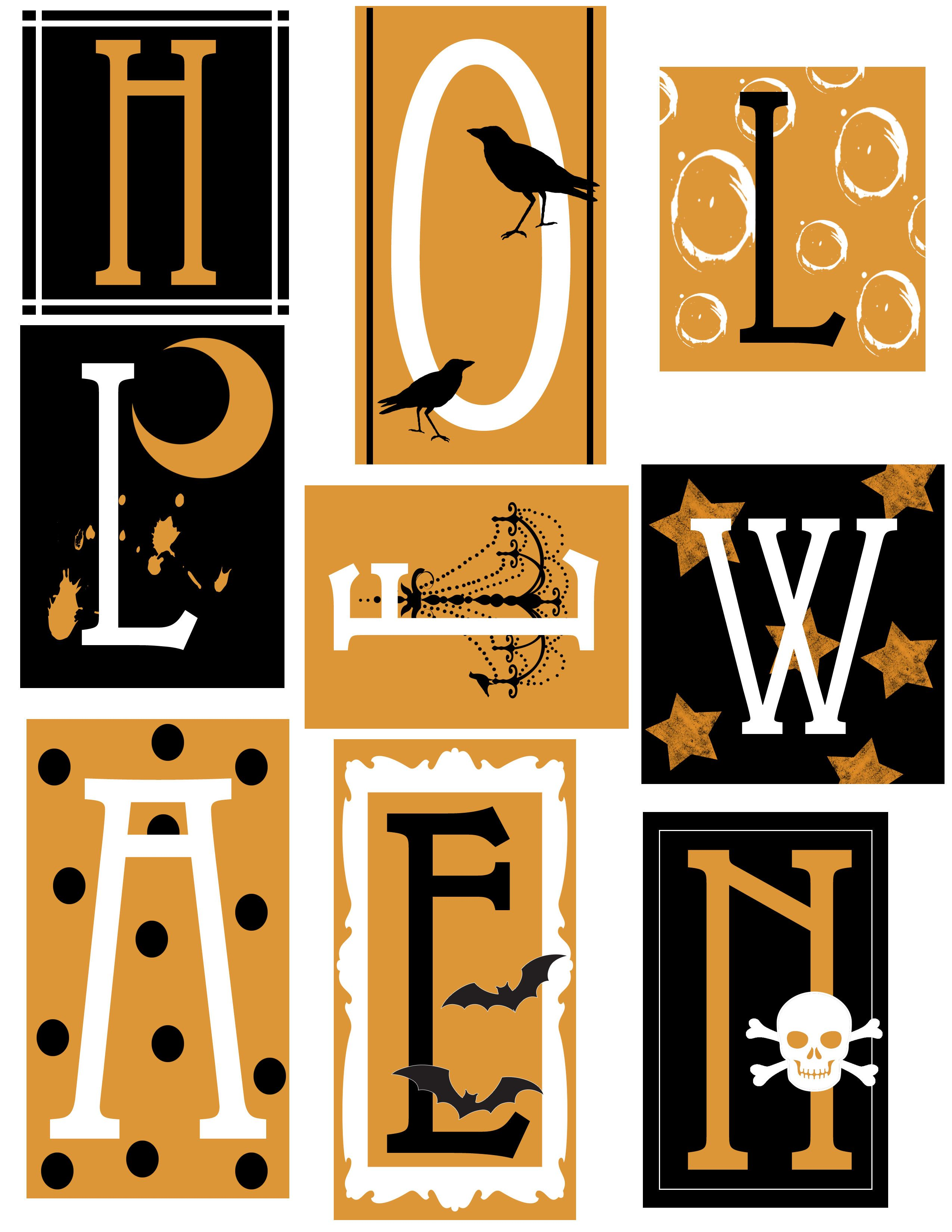 Uncategorized Halloween Letters Printable wa imprimer 07 scrap halloween gothique pinterest parties