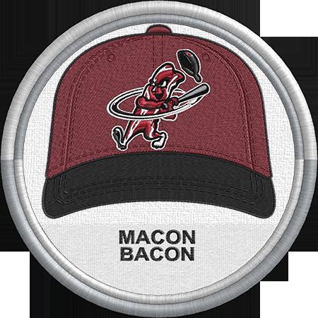 Macon Bacon Baseball Cap Hat Sports Logo Coastal Plain League Created By Jackson Cage Sports Logo Minor League Baseball Baseball Hats