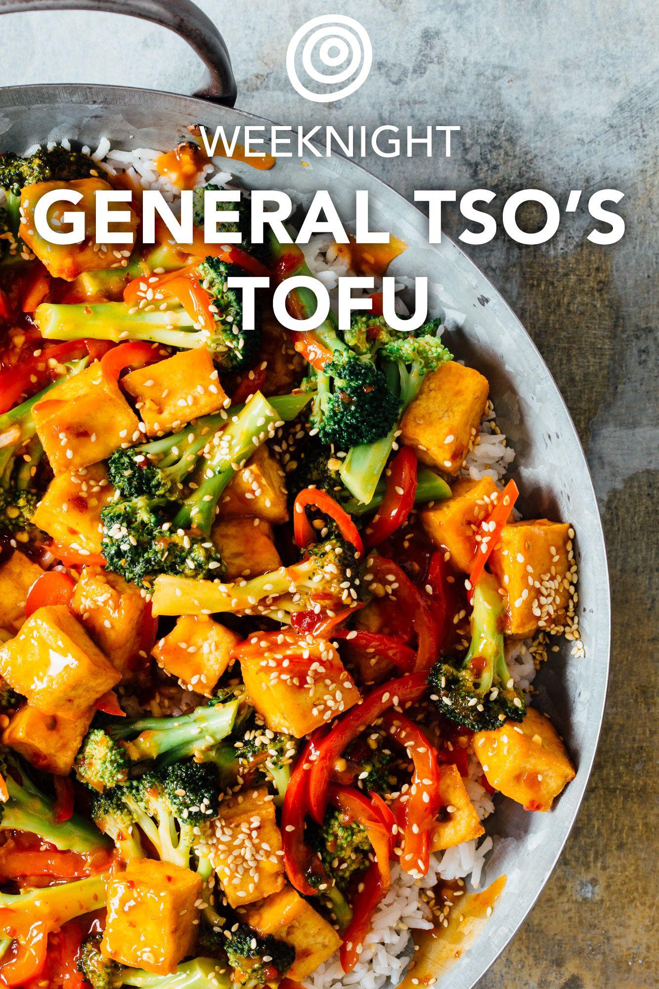 Recipe Weeknight General Tso S Tofu Recipe Healthy Chinese Recipes Tofu Tofu Recipes