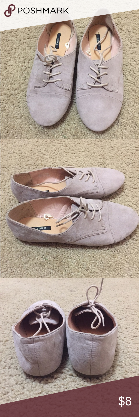Suede Oxford shoes Forever 21 suede Oxford shoes. Minima wear- size 7.5 Forever 21 Shoes Flats & Loafers