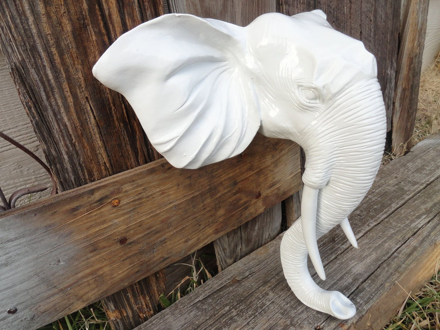 Faux Taxidermy Elephant Head Wall Hanging Wall Decor Wall Mount