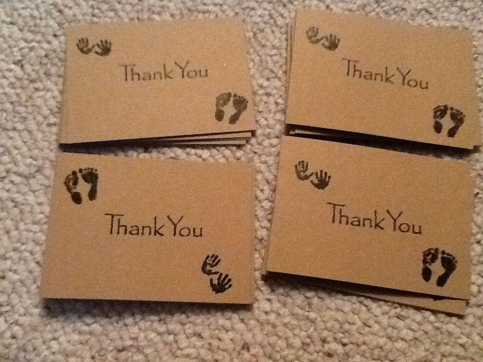 Diy Baby Shower Thank You Cards Stamping Is So Beautiful